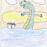 Dragon Attacking a Cruise by Benaiah - Age 9