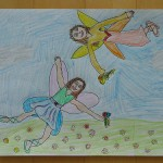 Fairies Picking Flowers by Melody - Age 9