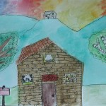 House at Sunrise by Melody - Age 9