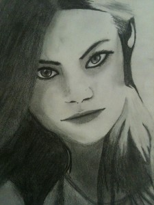 Emma Stone by Jerah, age 15, pencil