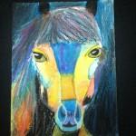 """Blue Horse"" by Ryann - age 10"