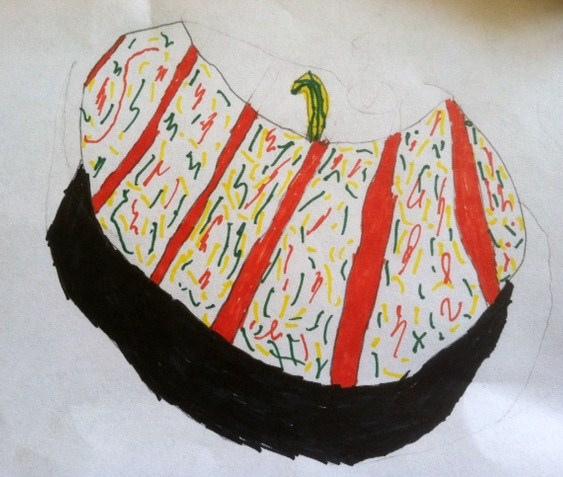 """Confetti Pumpkin"" by Jake - age 11"