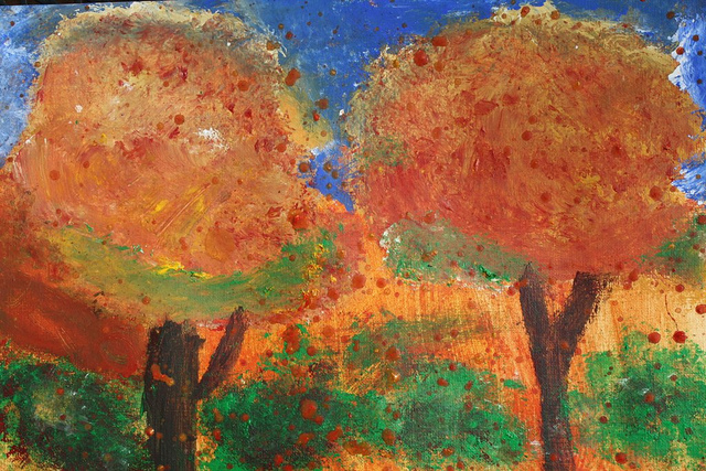 """Fall Trees"" by Luci - age 15"