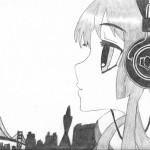"""Headphones Girl"" by Brandon - age 15"