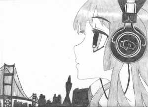 """Headphones Girl"" by Brandon - age 15"