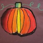 Pastel Pumpkin by Maggie - age 10