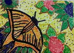 Pointillism Butterfly