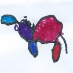 Colorful Goat by Andrew, age 5