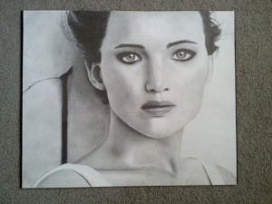 Angelina D. Jennifer Lawrence graphite 16 300x225 Art For Homeschool April 2014 Art Show Award Winners