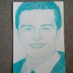 Angelina D. - Josh Hutcherson - colored pencil - 16