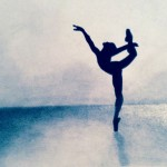 Kyla DeHaven - Ballet Silhouette - mixed media - 14