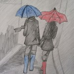 Tatum Cranford The Blue Umbrella pencil crayon 13 150x150 Presenting the Art For Homeschool April 2014 Art Show