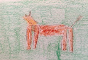 Andrew, 6, Loudy the Dog, crayon
