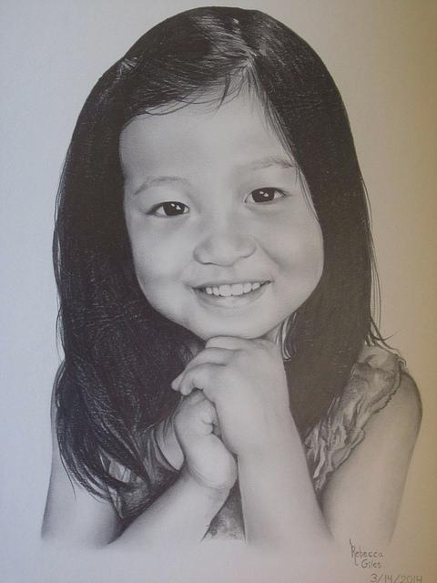 Rebecca, 14, Girl, pencil